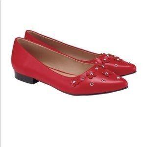 Avon Cushion Walk Autumn Romance Flats Red NWT